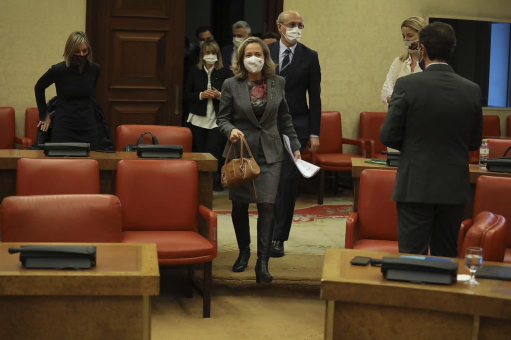 Nadia Calviño comparece en comisión asuntos Económicos, congreso diputados.