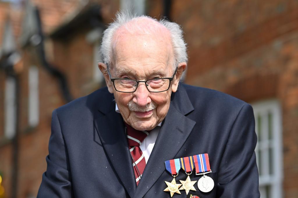El capitán Moore, en una foto de abril de 2020.