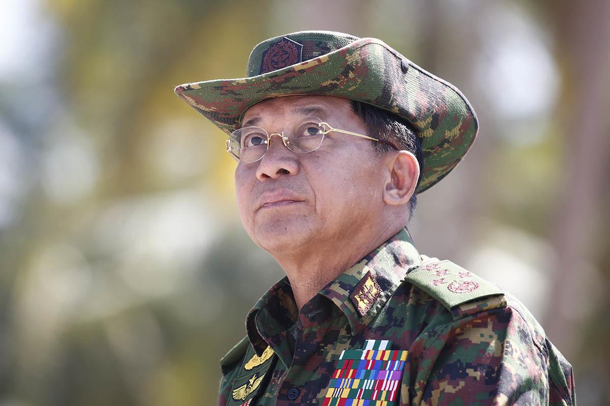 El Comandante Supremo de las Fuerzas Armadas, Min Aung Hlaing.