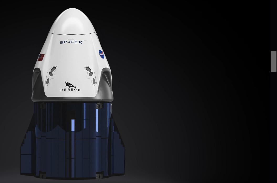 La nave 'Dragon' que realizará la misión Inspiration4.