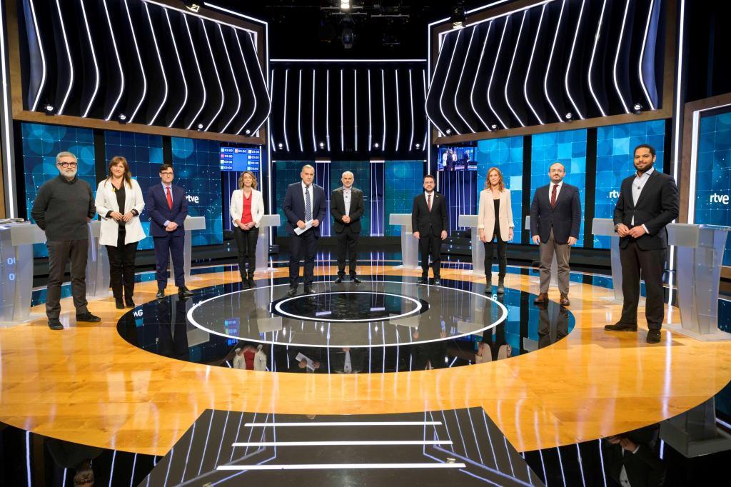 Debate entre los candidatos a las elecciones catalanas.