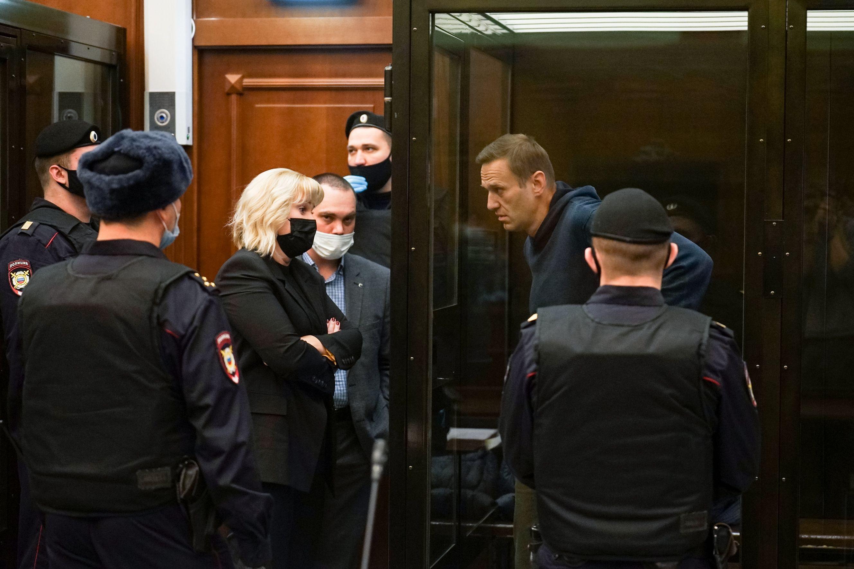 Alexei Navalny en el juicio de este martes.