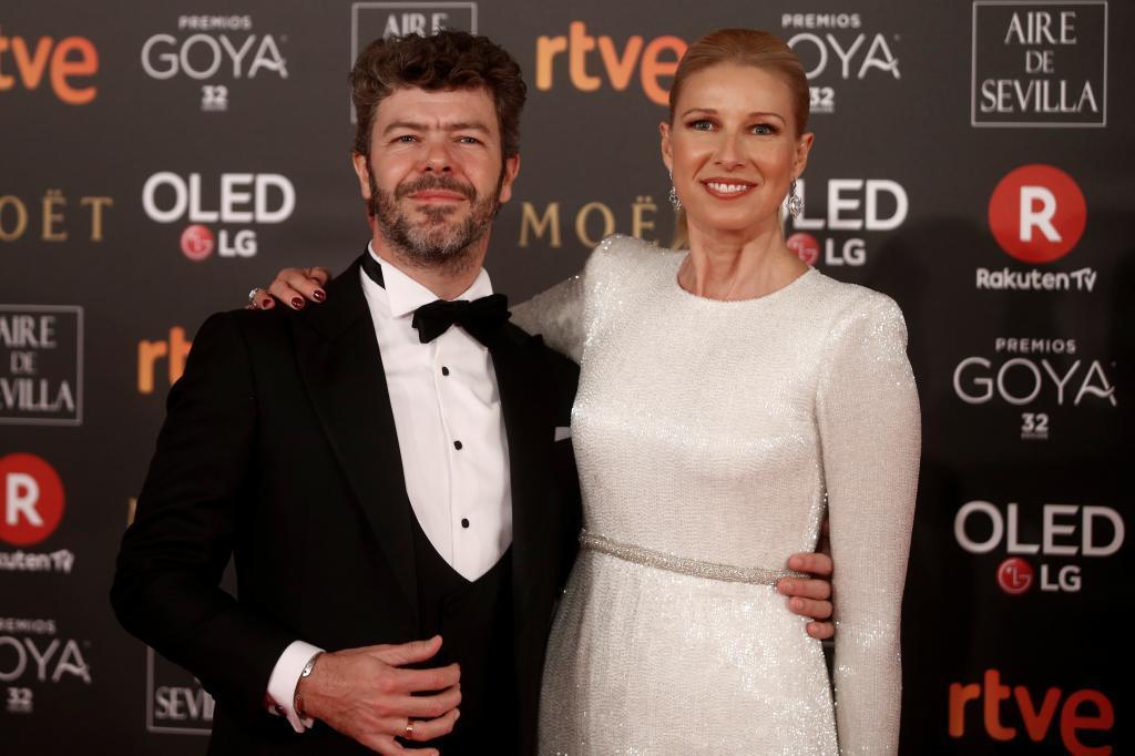 Pablo Heras-Casado y Anne Igartiburu, en la gala de los Goya de 2018.