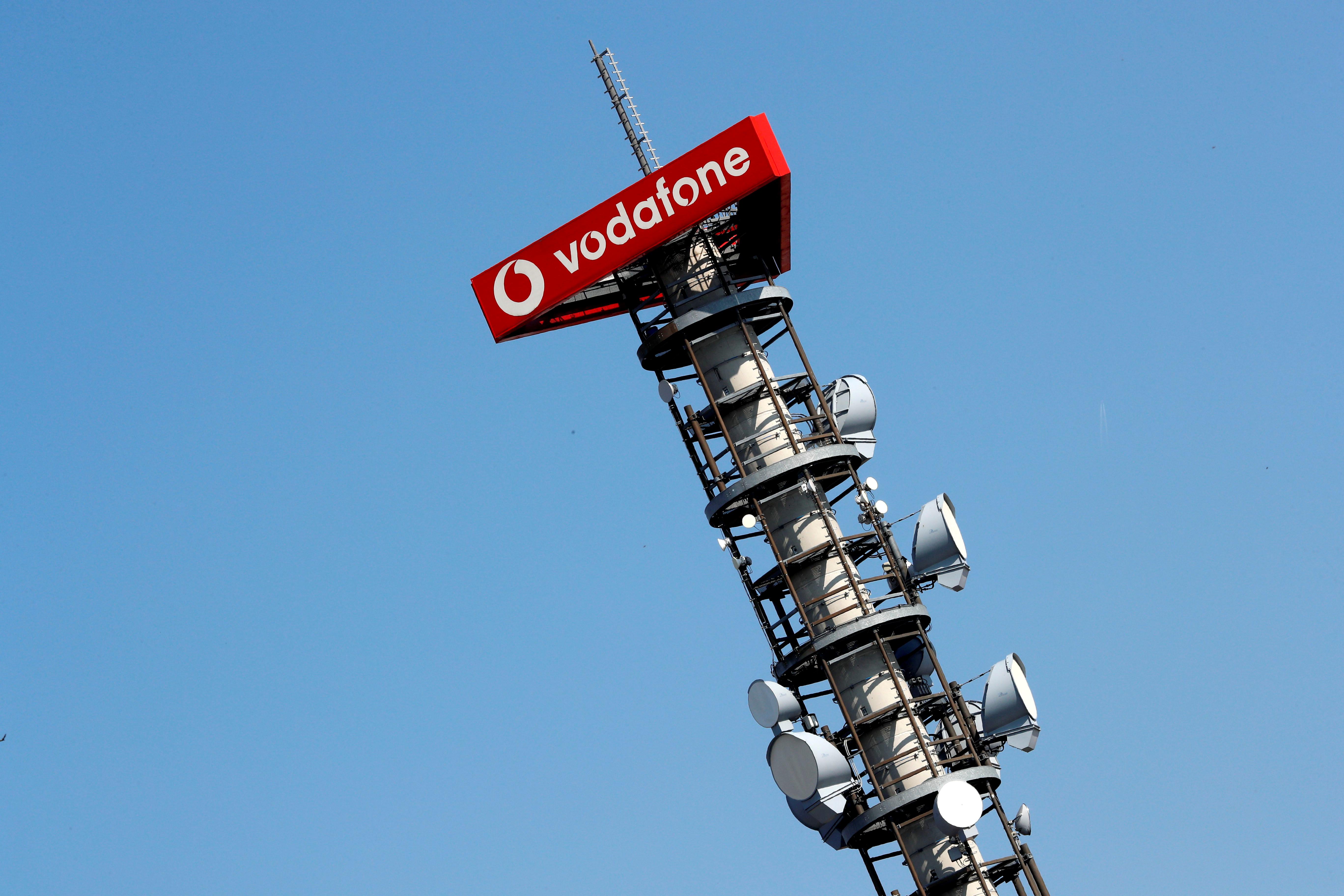 Una torre de telecomunicaciones de Vodafone.