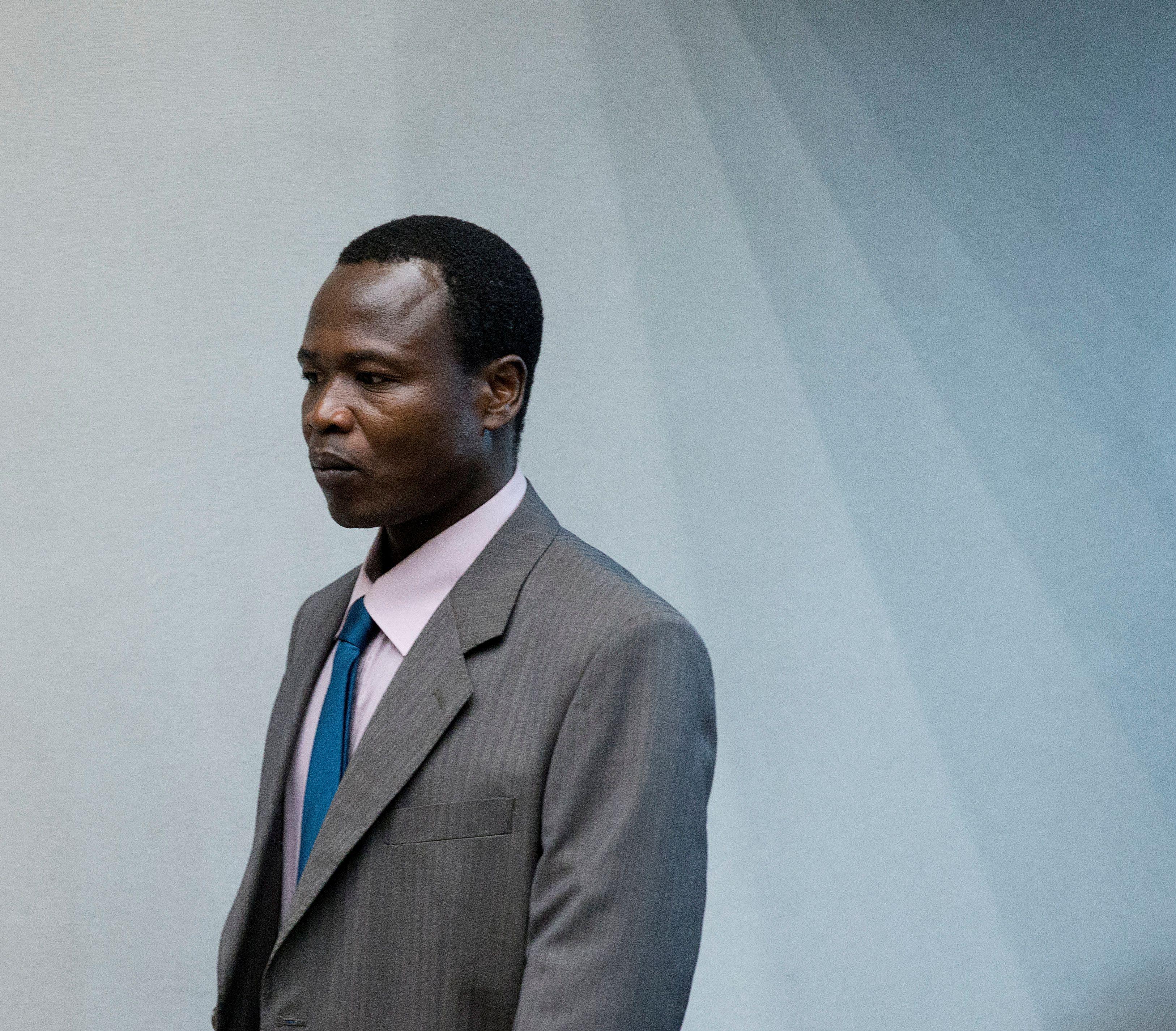 دومنیک اونگوان در دادگاه کیفری بین المللی ، در سال 2016