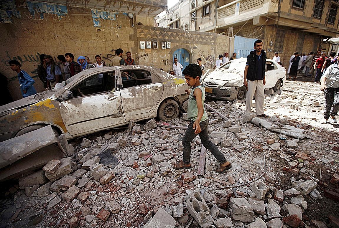 چندین نفر پس از بمب گذاری سعودی