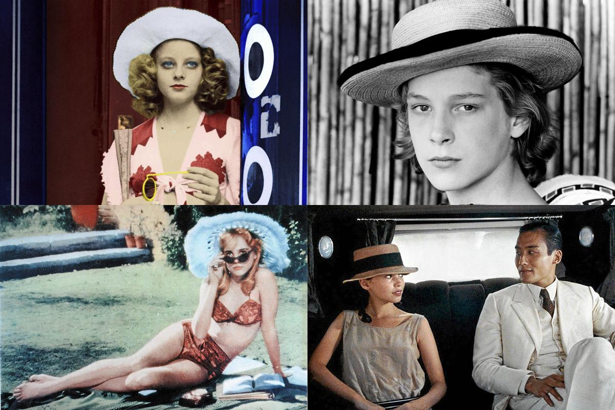 Arriba: Jodie Foster en 'Taxi Driver' y Björn Andresen en 'Muerte en Venecia'. Abajo, Sue Lyon en 'Lolita' y Jane March en 'El amante'.