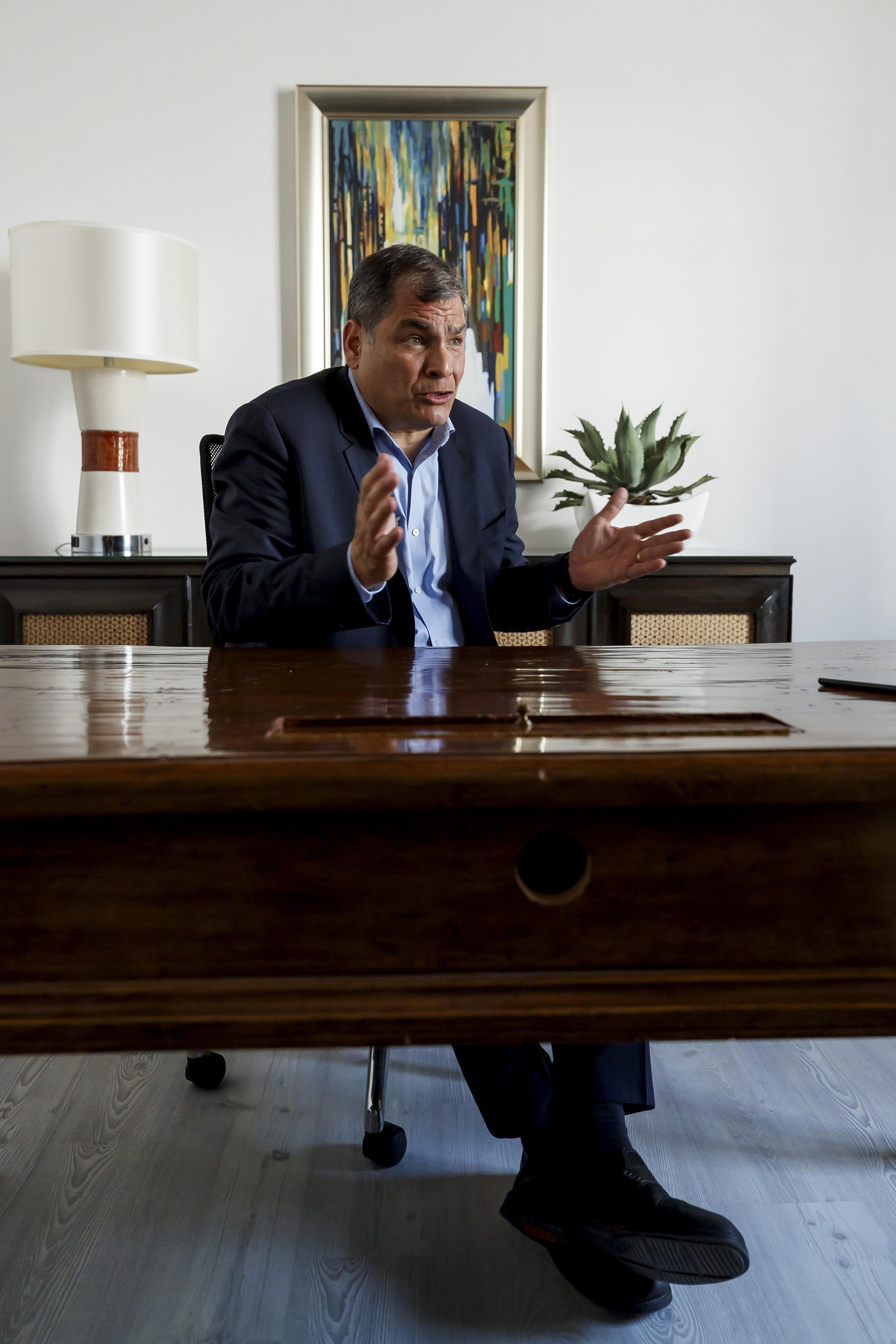 El ex presidente de Ecuador Rafael Correa.
