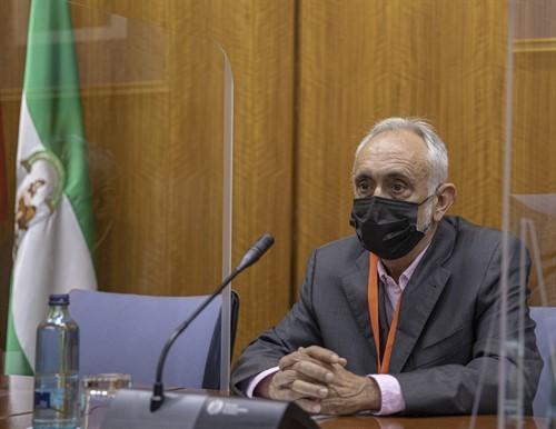 El ex director de la Faffe, Fernando Villén, durante su comparecencia en la comisión de la Faffe.