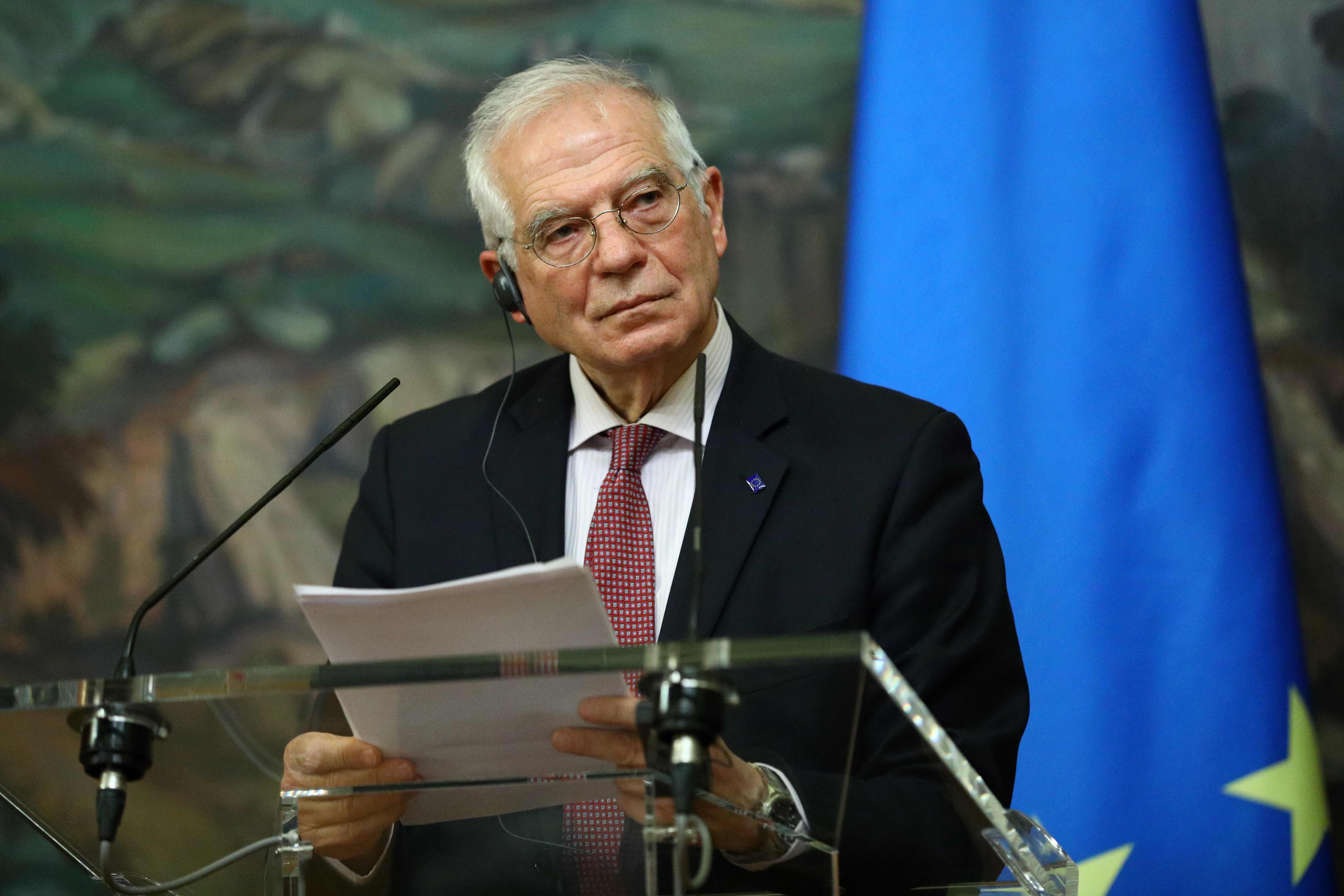 Josep Borrell, este viernes en Moscú.