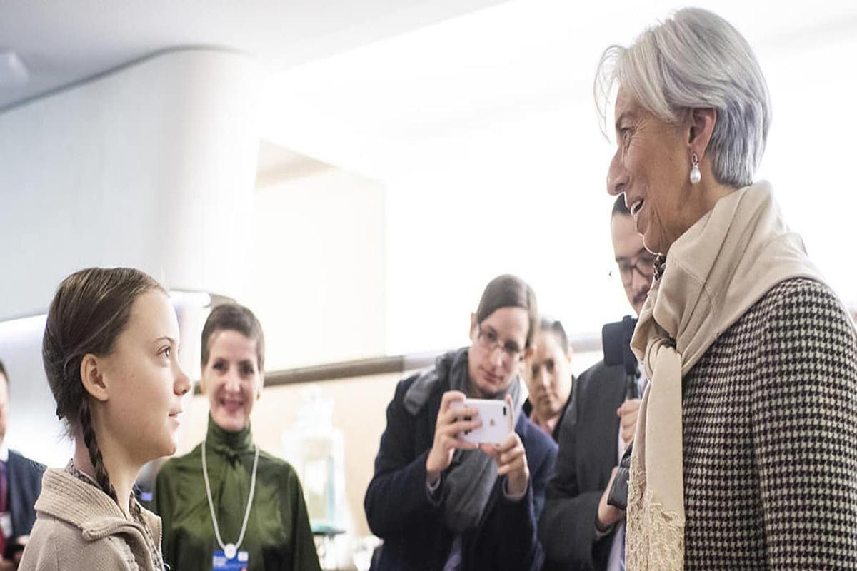 Greta Thunberg y Christine Lagarde.