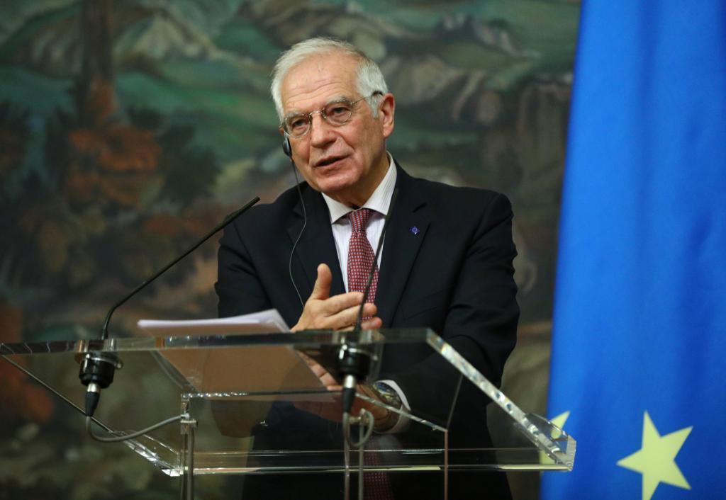 Josep Borrell, durante su reciente viaje a Moscú.