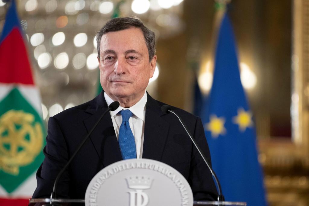 El ex presidente del BCE, Mario Dragh.