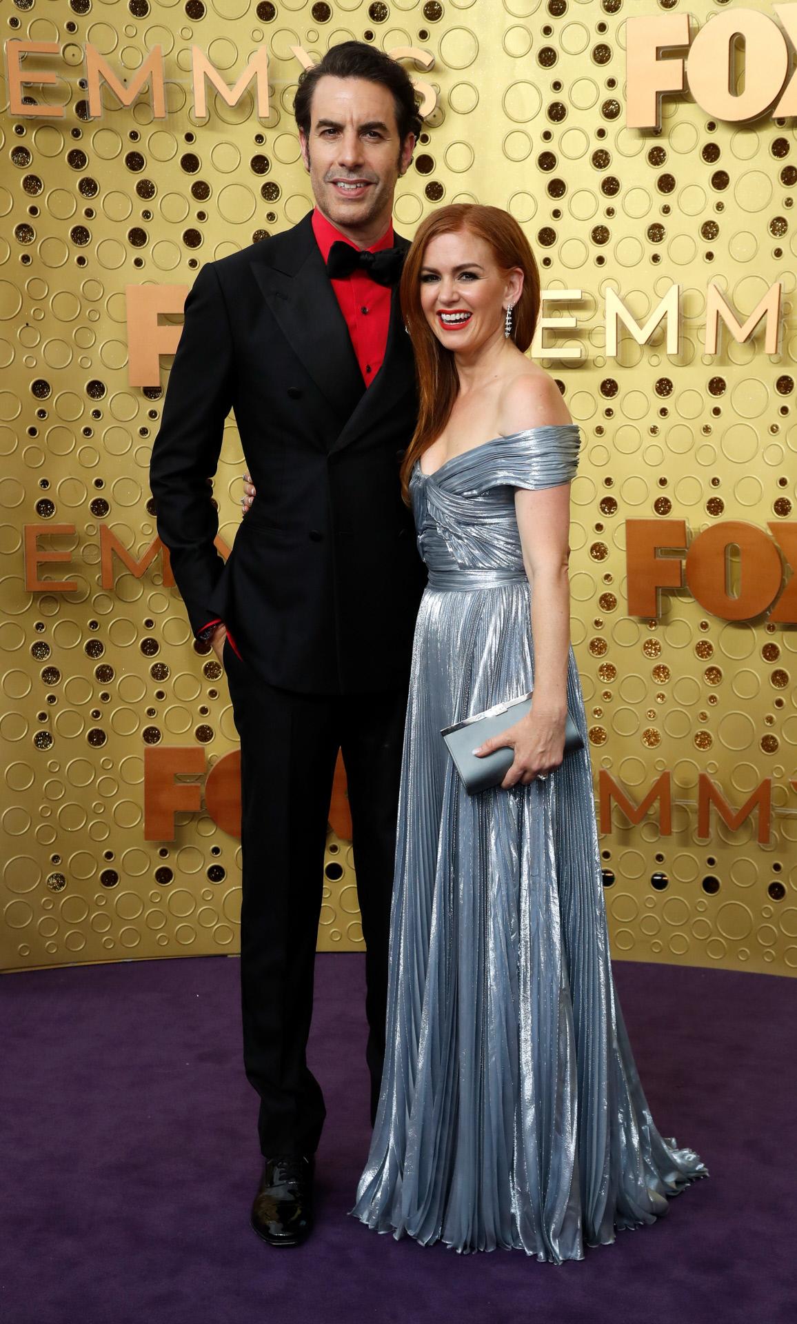 Junto a su esposa, Isla Fisher, en una entrega de premios.