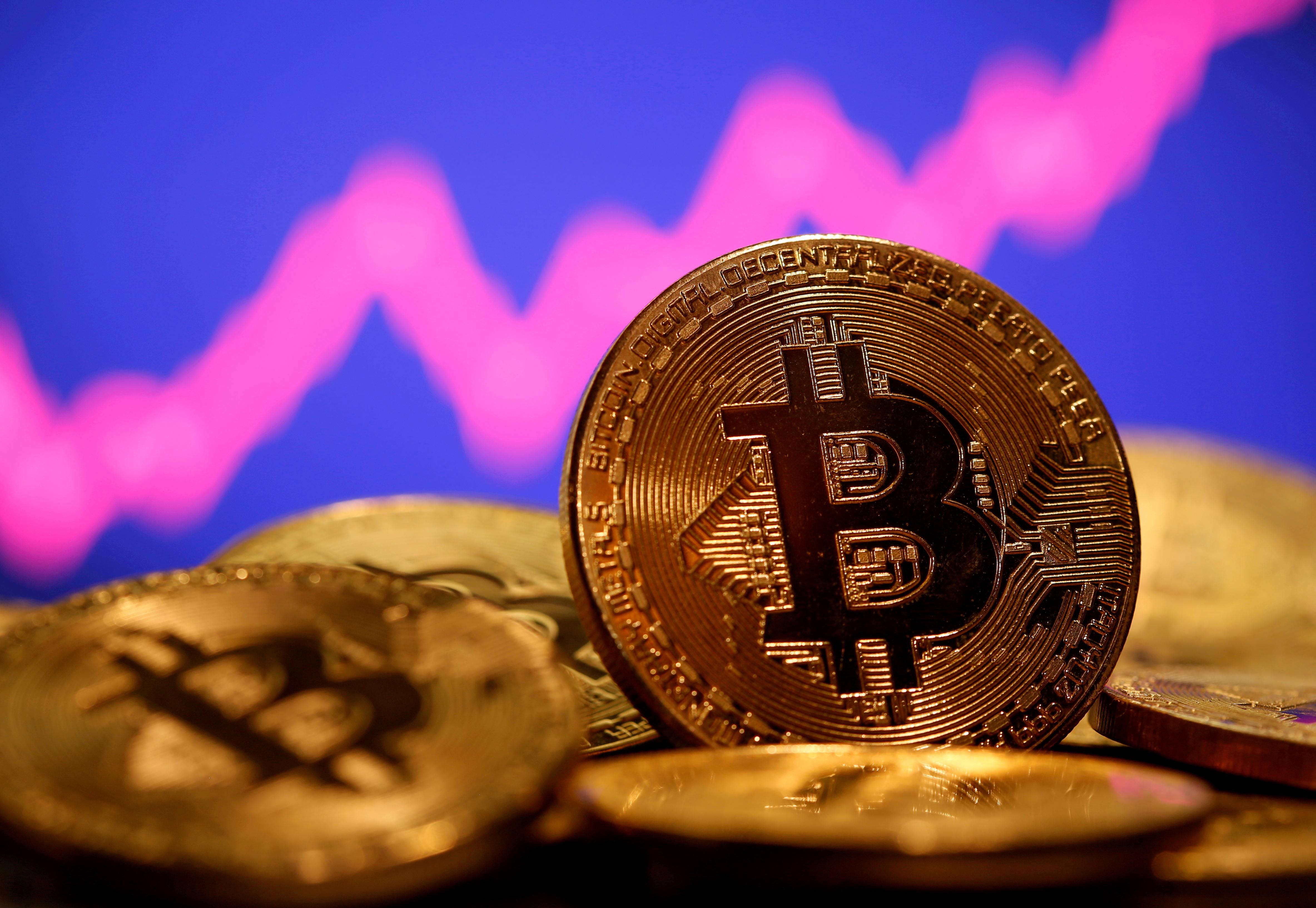 Representación física de la criptodivisa bitcoin.