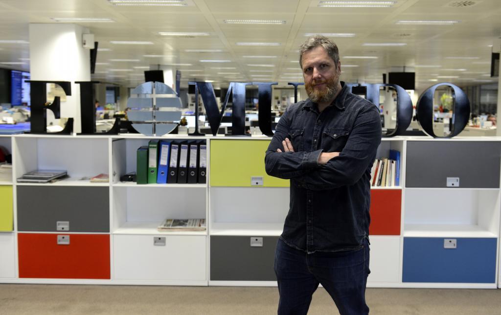 David Gistau, en la redacción de EL MUNDO.