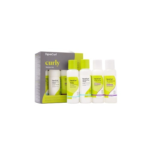 Kit de principiantes con champú, acondicionador y dos productos de peinado hidratantes, de DevaCurl en Sephora (los productos por separado cuestan entre 12 y 30 euros cada uno).
