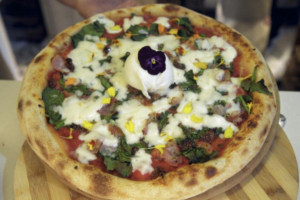 Pizza gourmet, una de las estrellas de la casa.