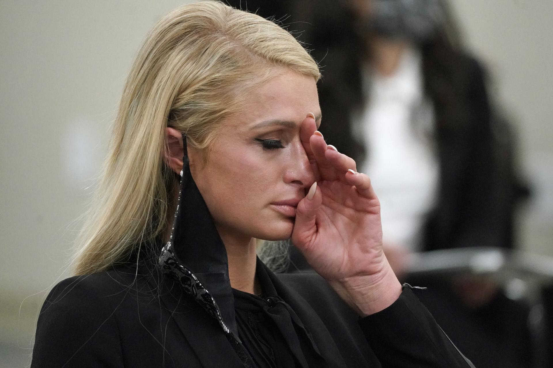 Paris Hilton, durante su declaración.