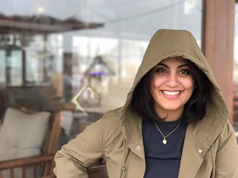 La activista saudí Loujain al Hathloul.