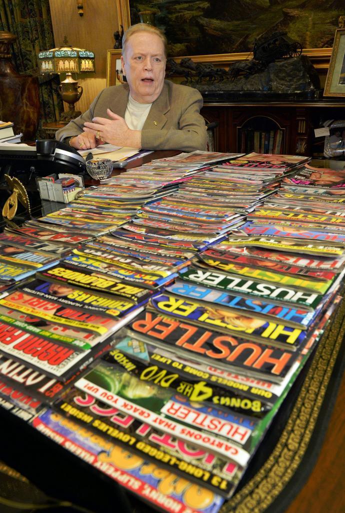 Larry Flynt en 2014 en el 40 aniversario de la revista Hustler.