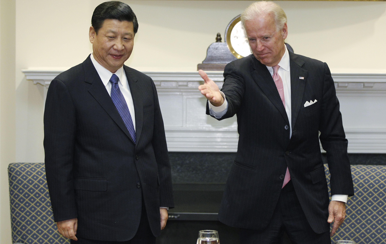 Joe Biden, en una reunión con Xi Jinping, en 2012.