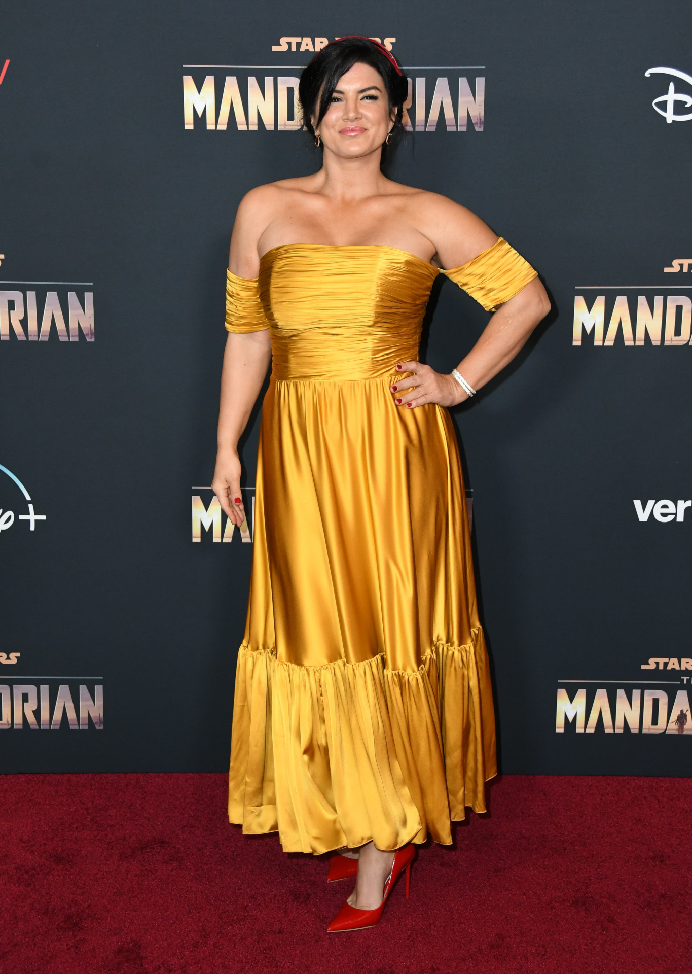 La actriz, en una alfombra roja.