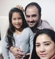 Ernesto Quinterocon su hija.