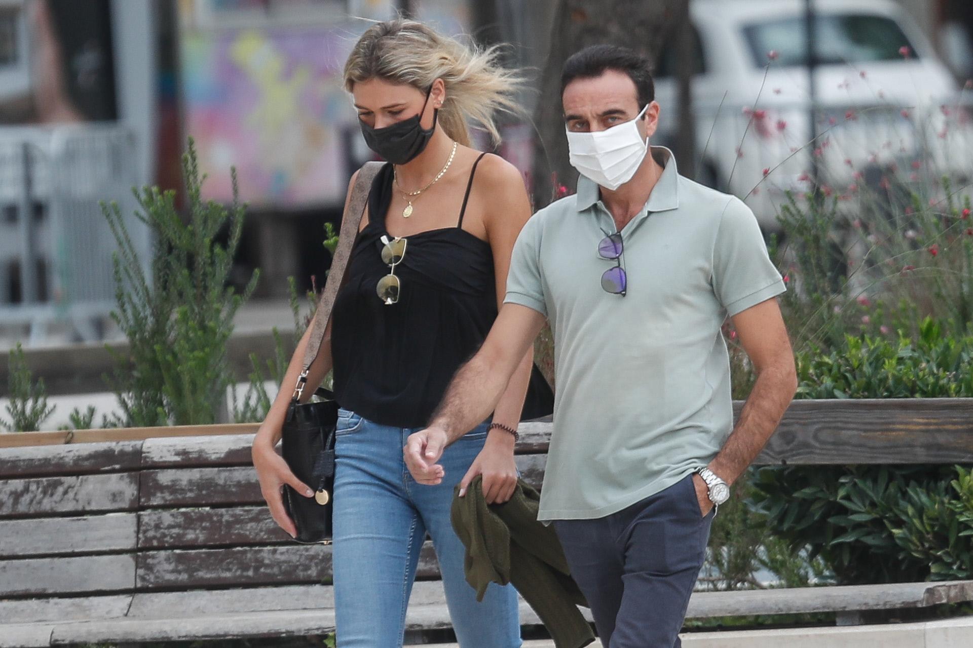 Ana Soria y Enrique Ponce, en una imagen de este verano.