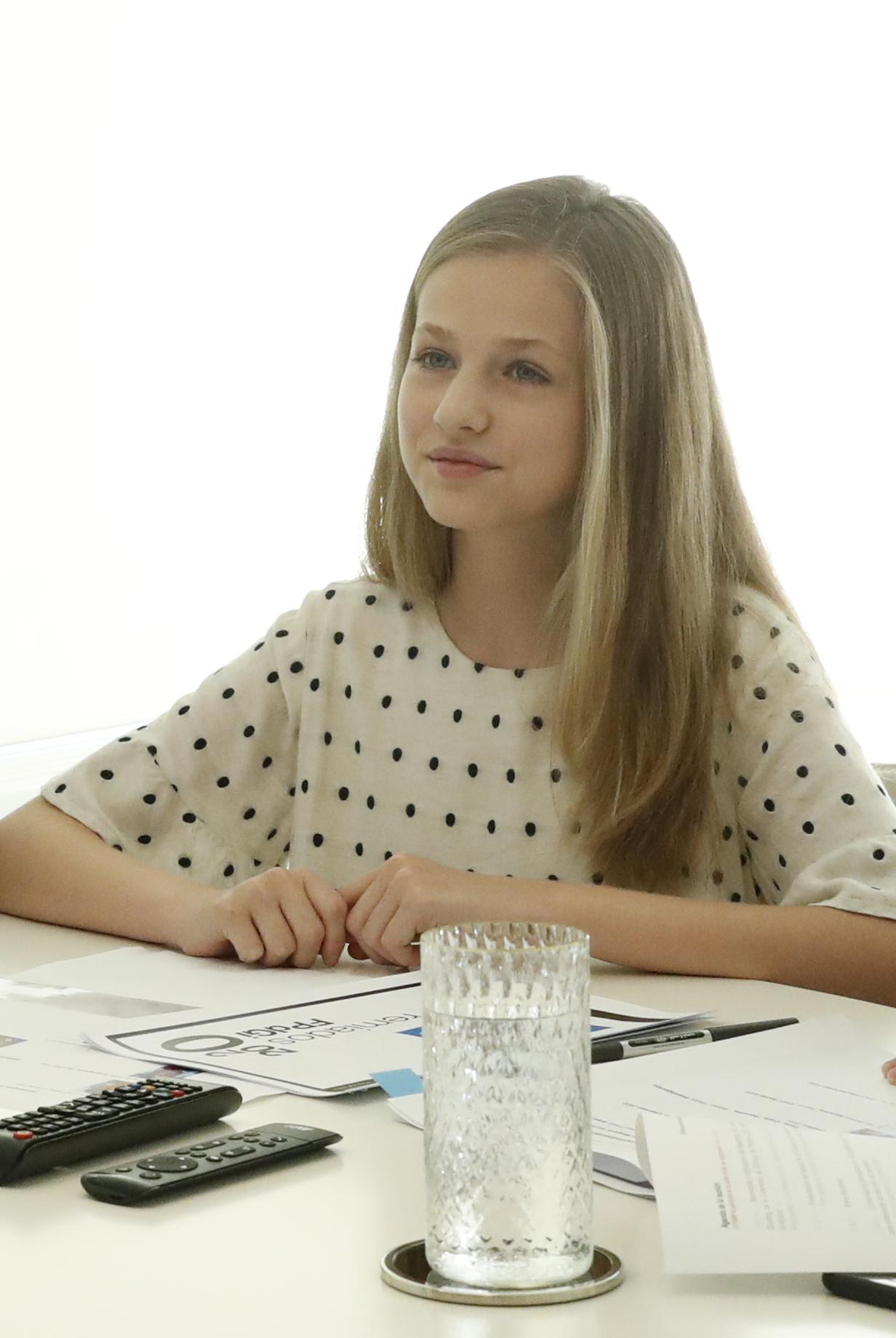 La Princesa durante una reunión