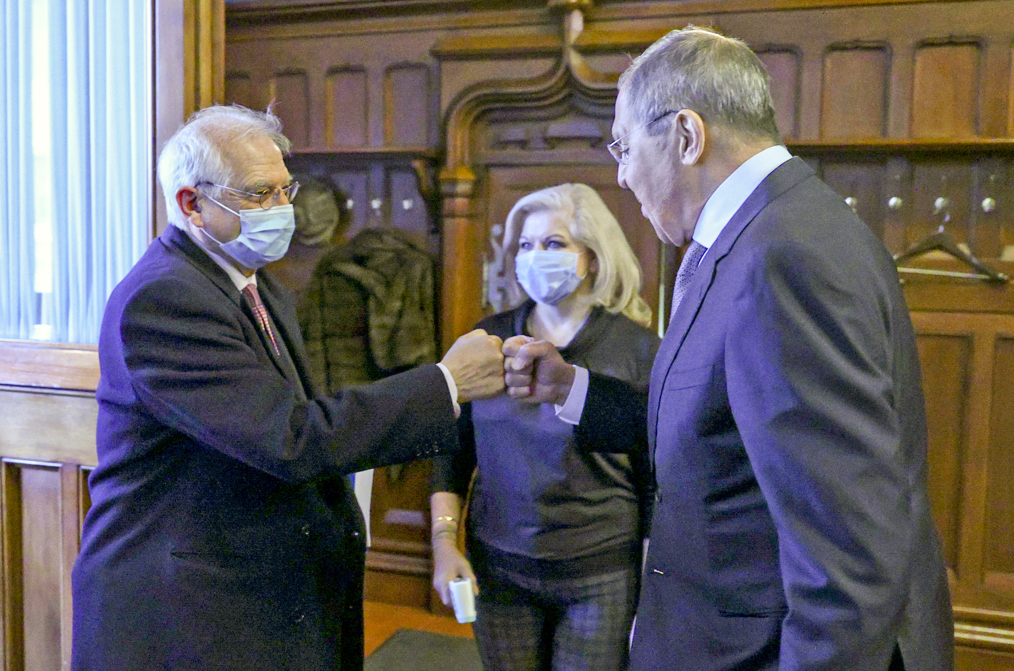 Josep Borrell y Serguei Lavrov, en Moscú.
