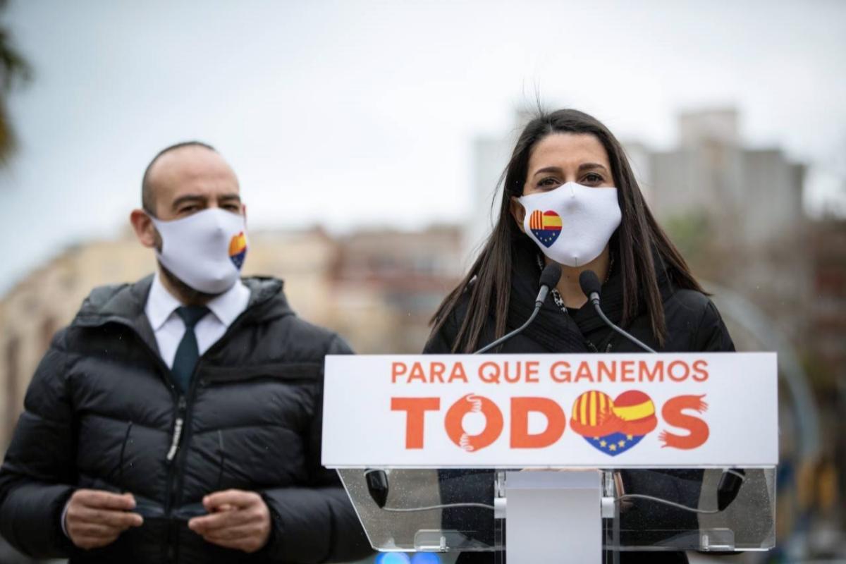 Inés Arrimadas junto al eurodiputado Jordi Cañas. | EFE