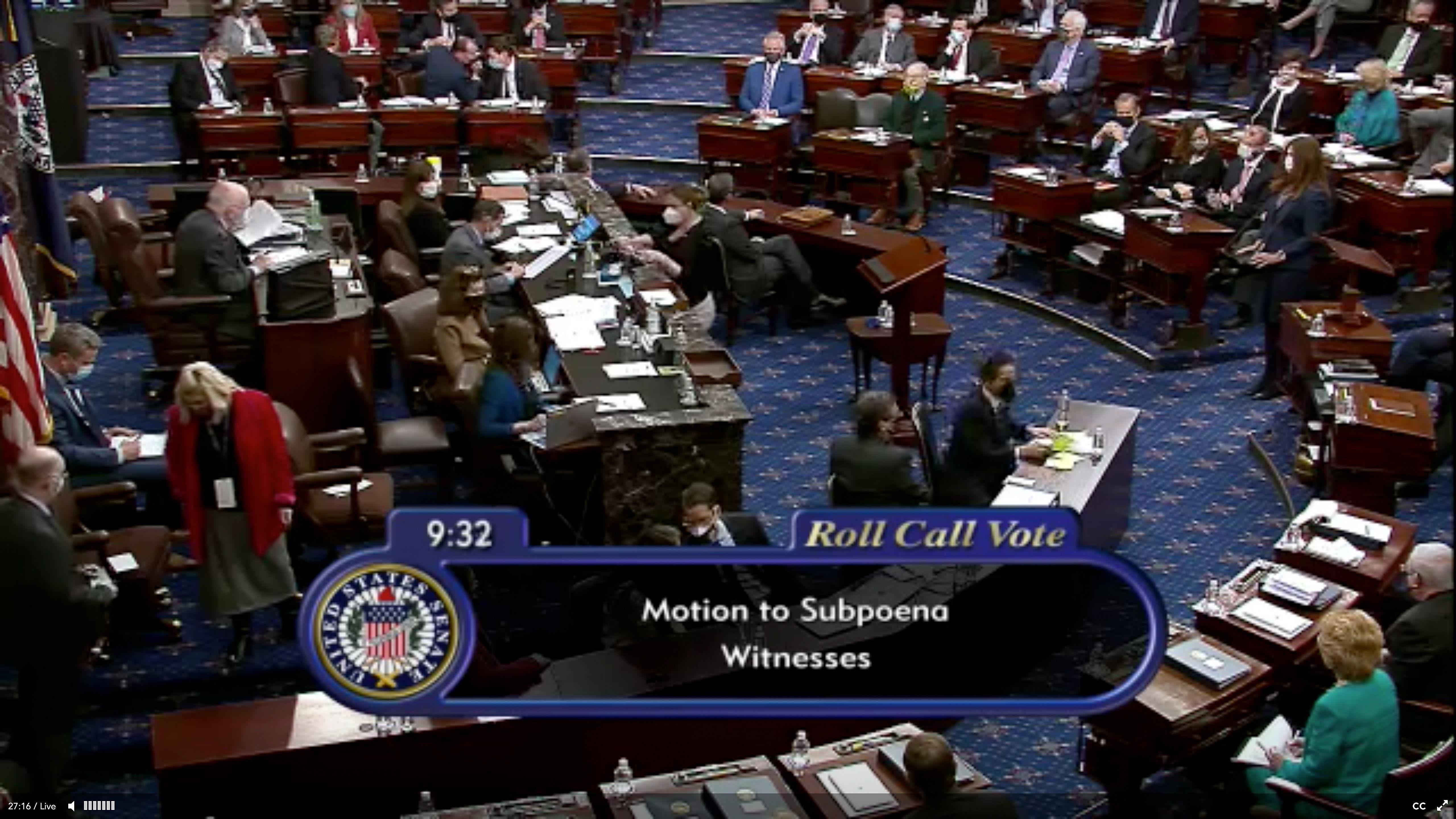 Votación este sábado en el Senado de EEUU.