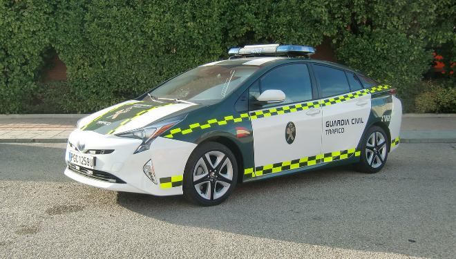 Toyota Prius híbrido de la flota de la Guardia Civil