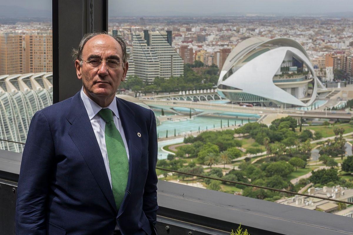 Ignacio Galán en las oficinas de Iberdrola en Valencia.