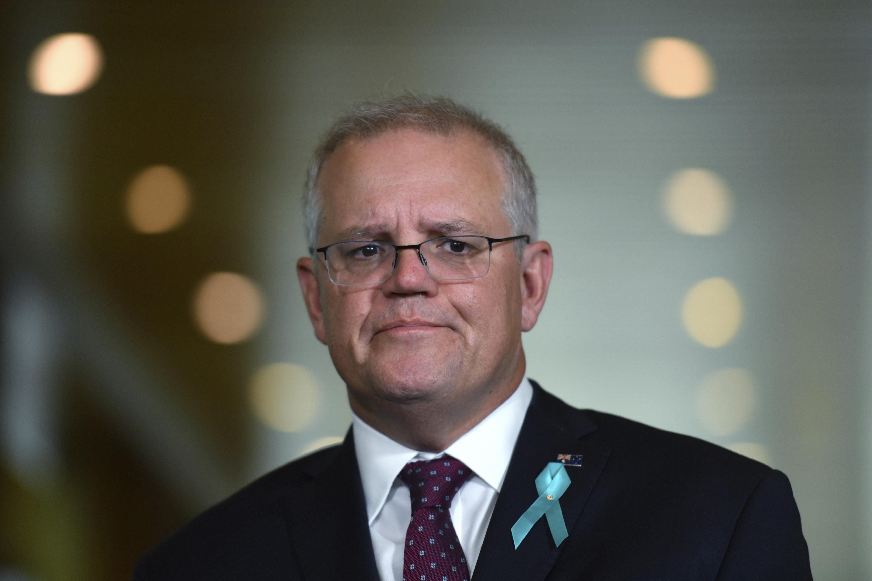El primer ministro Scott Morrison en una rueda de prensa sobre el caso.