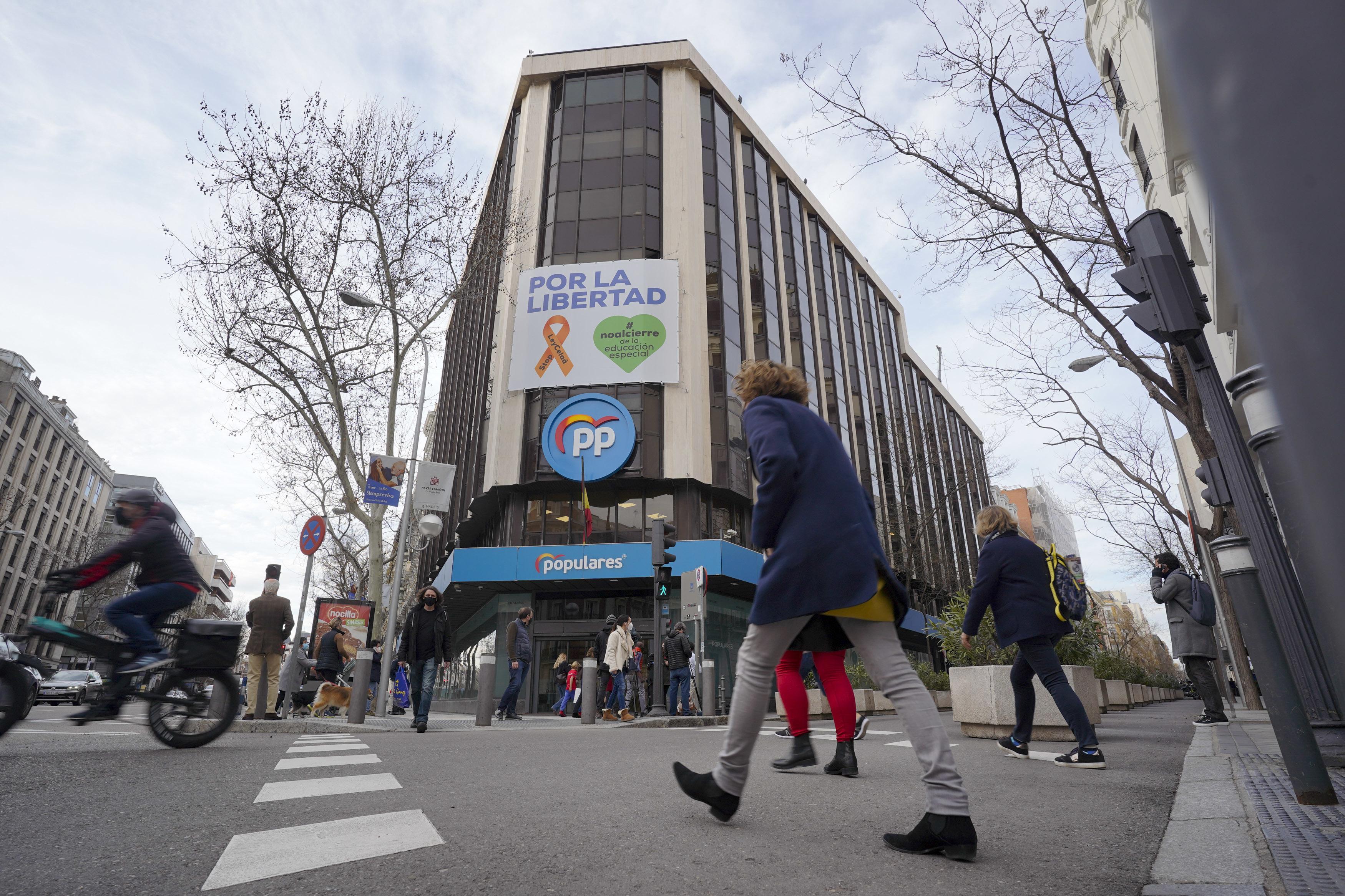 La histórica sede central del Partido Popular en la calle Génova de Madrid.