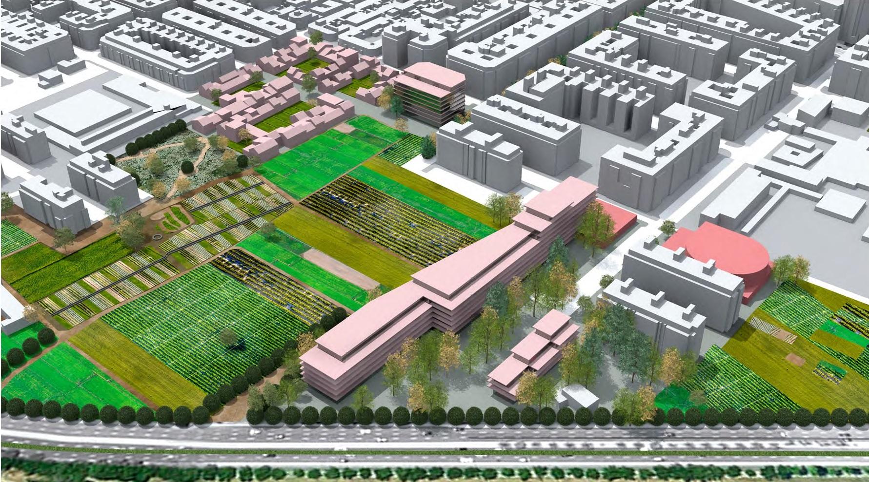 Huertos urbanos del proyecto del PAI de Benimaclet elaborada por Compromís.