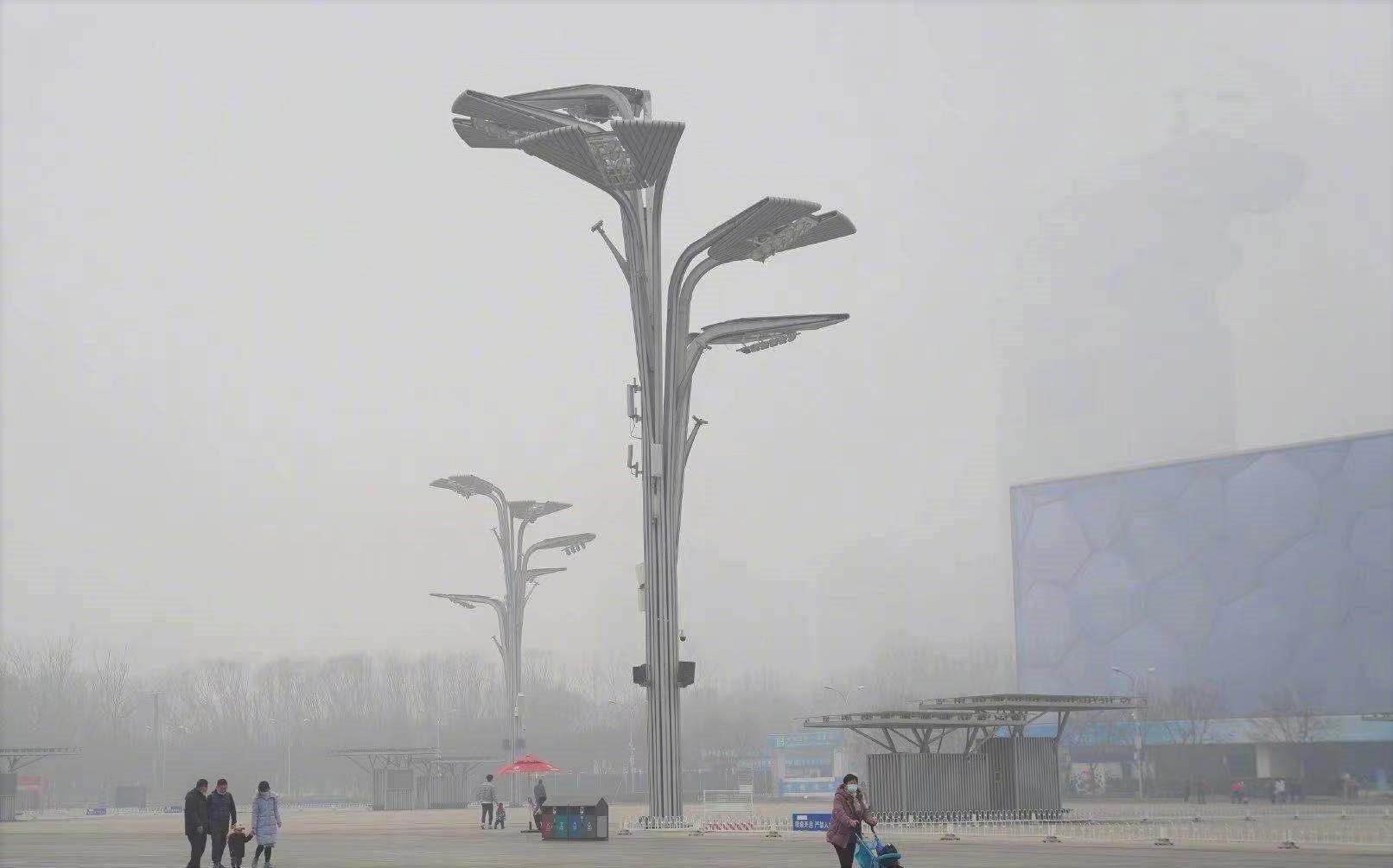 Imagen reciente de una calle de Pekín.