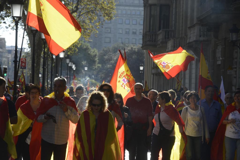 Manifestación a favor de la unidad de España convocada por Sociedad Civil Catalana en 2017.