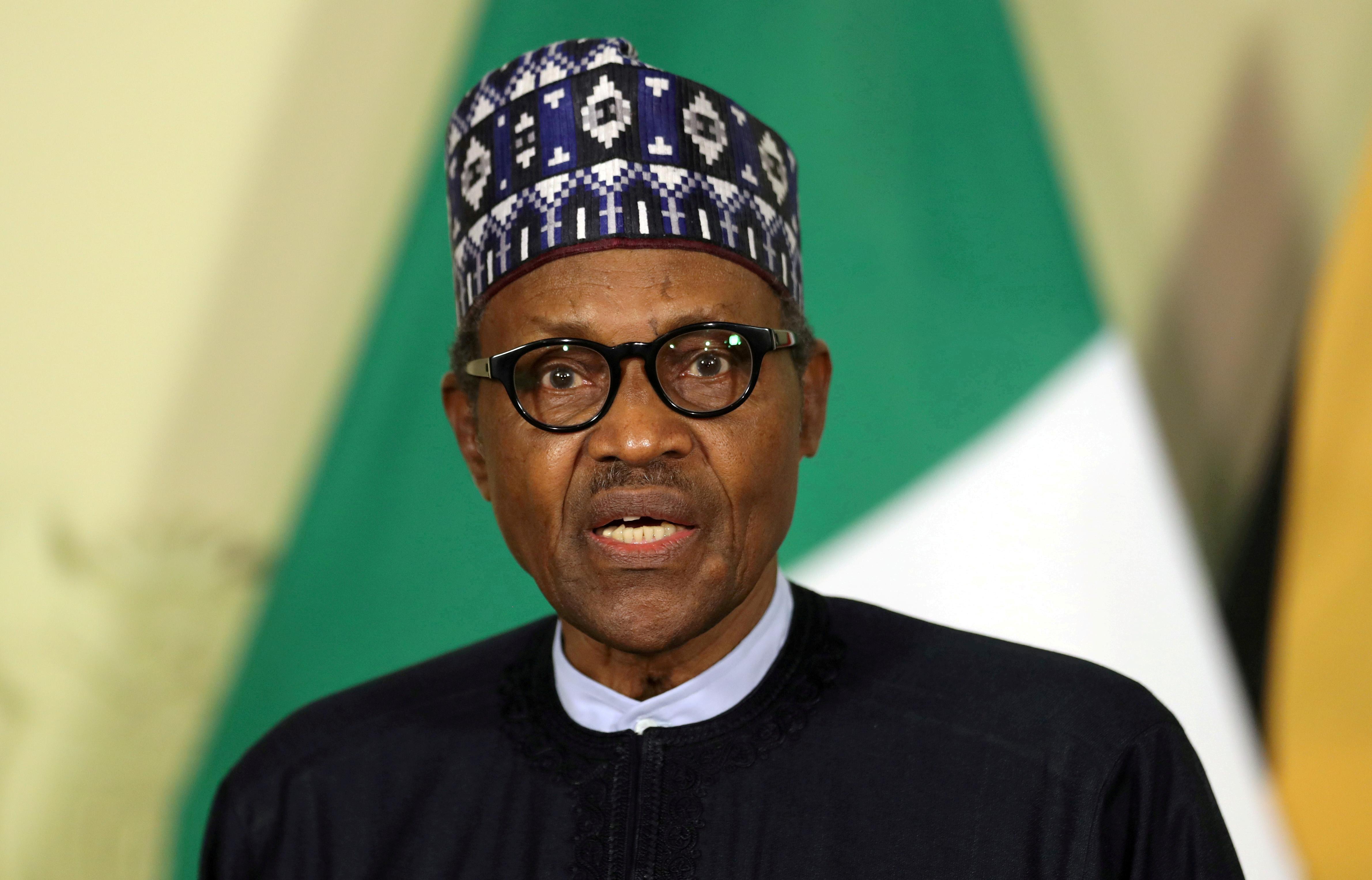 El presidente de Nigeria Muhammadu Buhari.