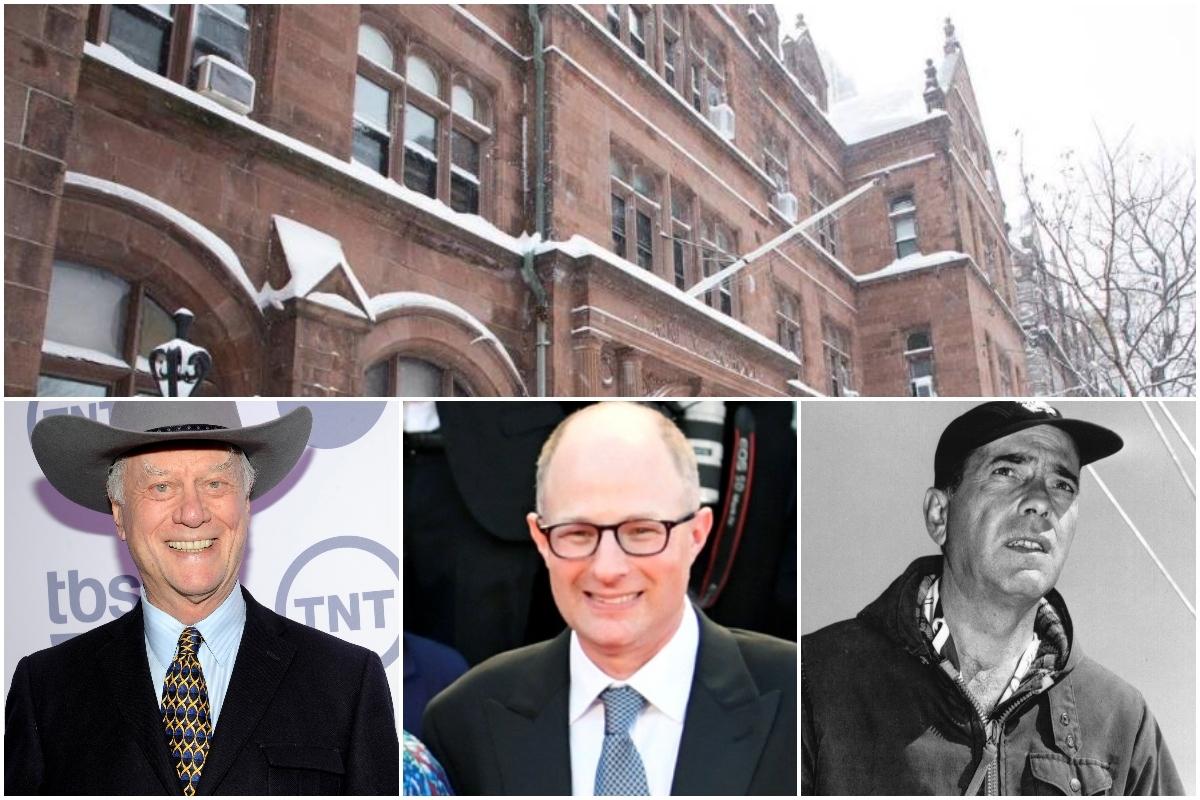 En el Trinity School del Upper West Side de Manhattan estudiaron Larry Hagman (i), Jake Bernstein (c) y Humphrey Bogart.