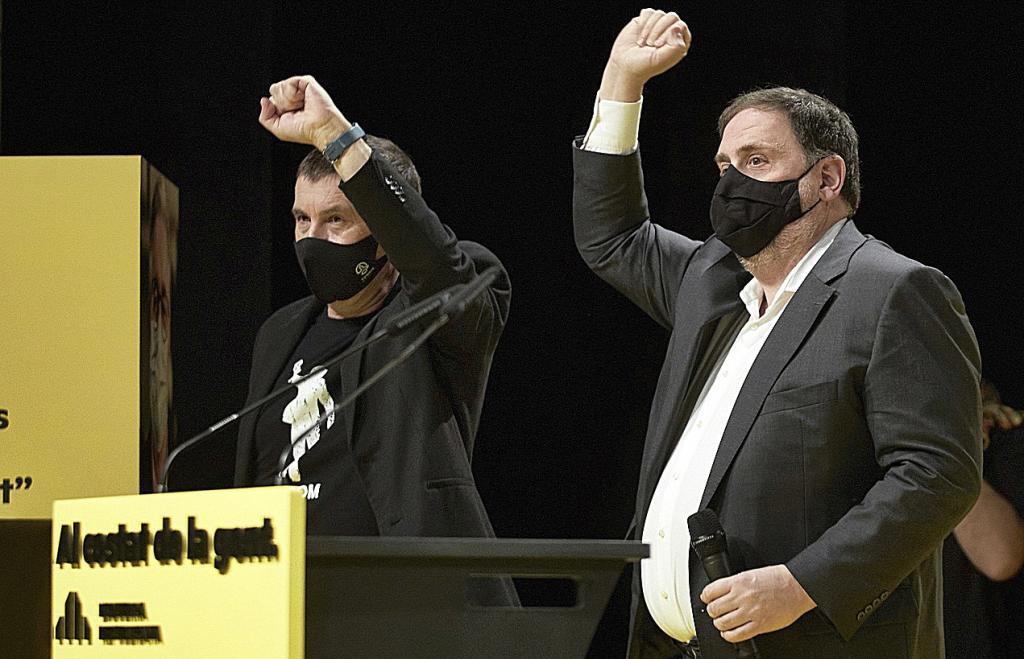 Otegi y Junqueras, líderes del independentismo vasco y catalán.