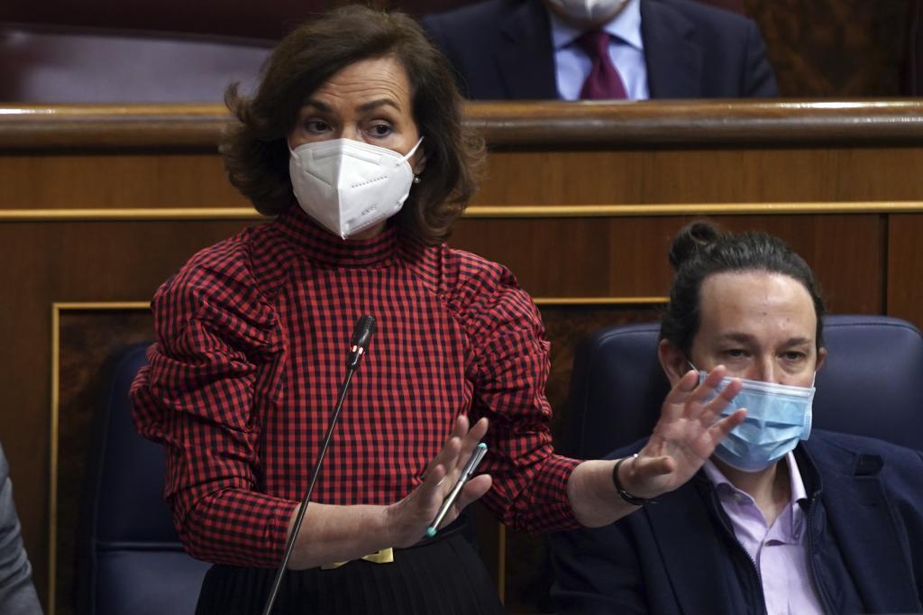 La vicepresidenta Carmen Calvo, autora del dedazo a favor de Cordoba.