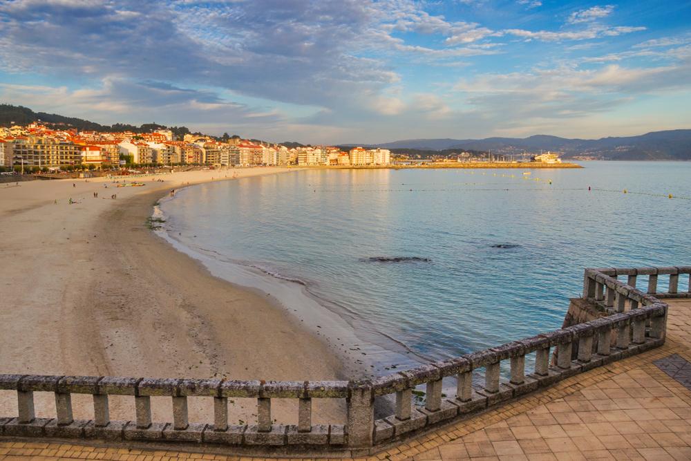 Playa de Silgar en Sangenjo (Pontevedra).