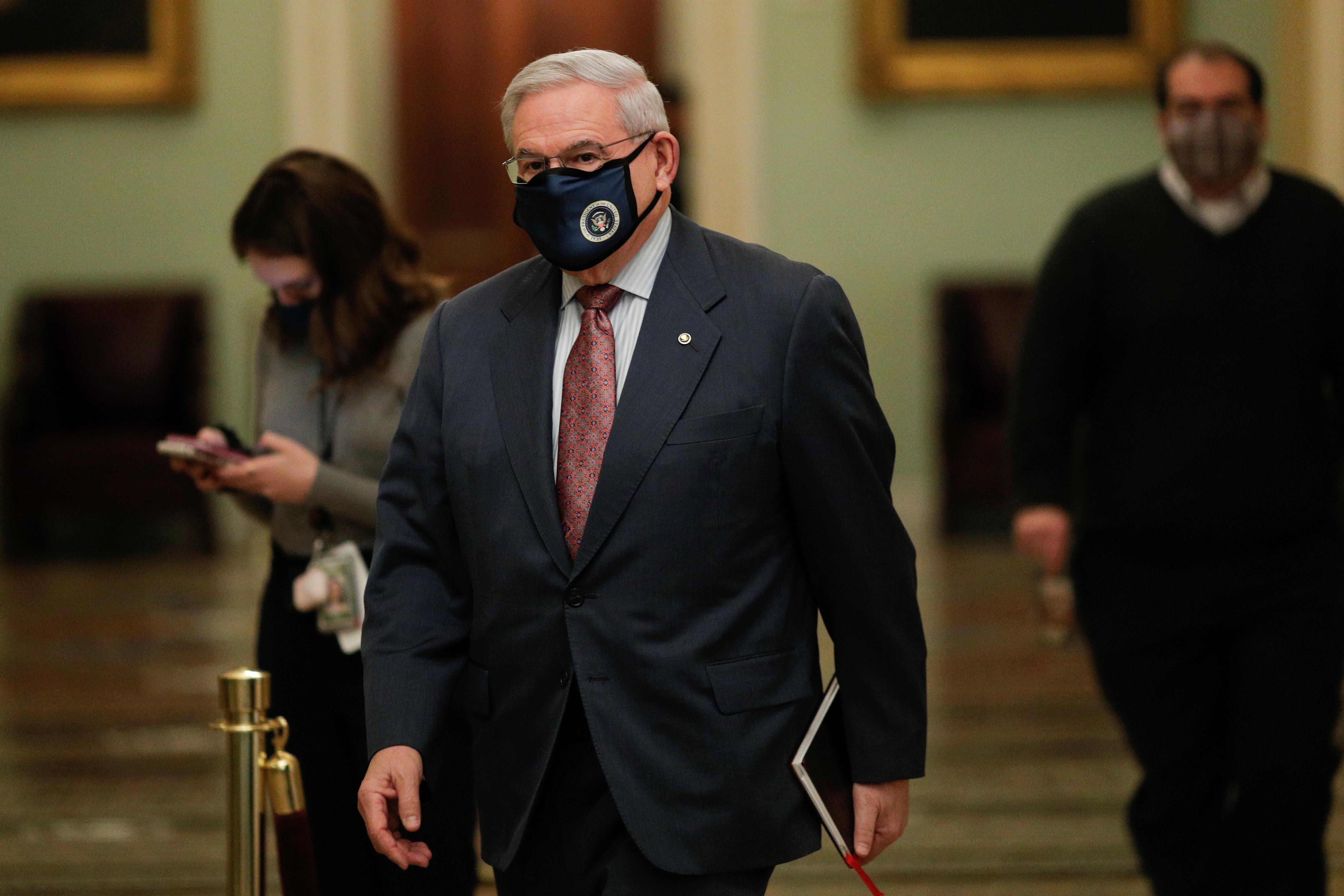 El senador demócrata Bob Menéndez.