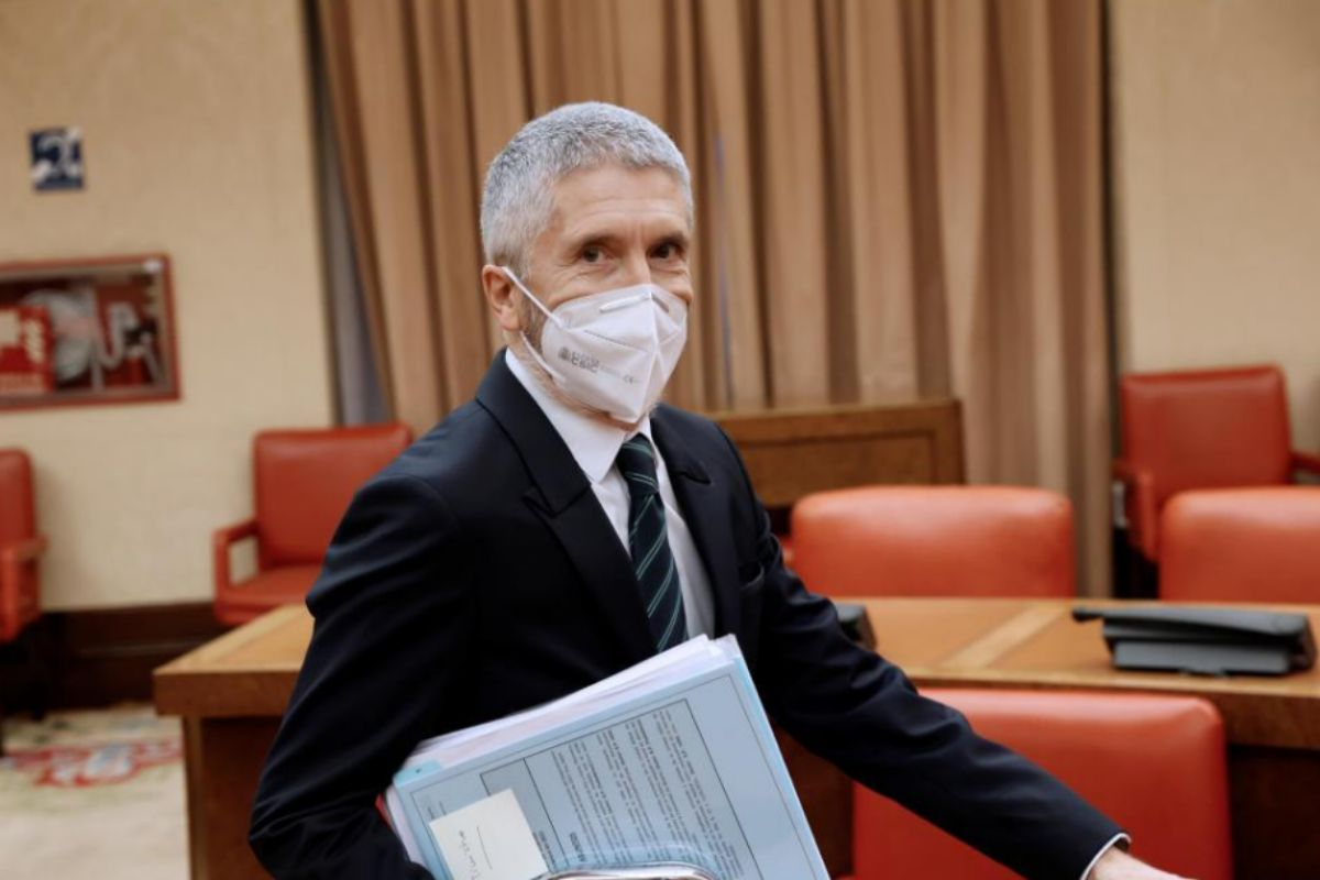 Fernando Grande-Marlaska, al inicio de su comparecencia en la Comisión de Interior.