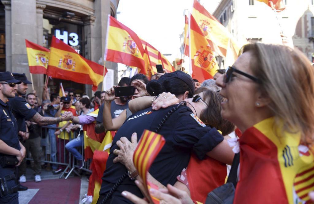 Manifestación en Barcelona, el 8 de octubre de 2017.