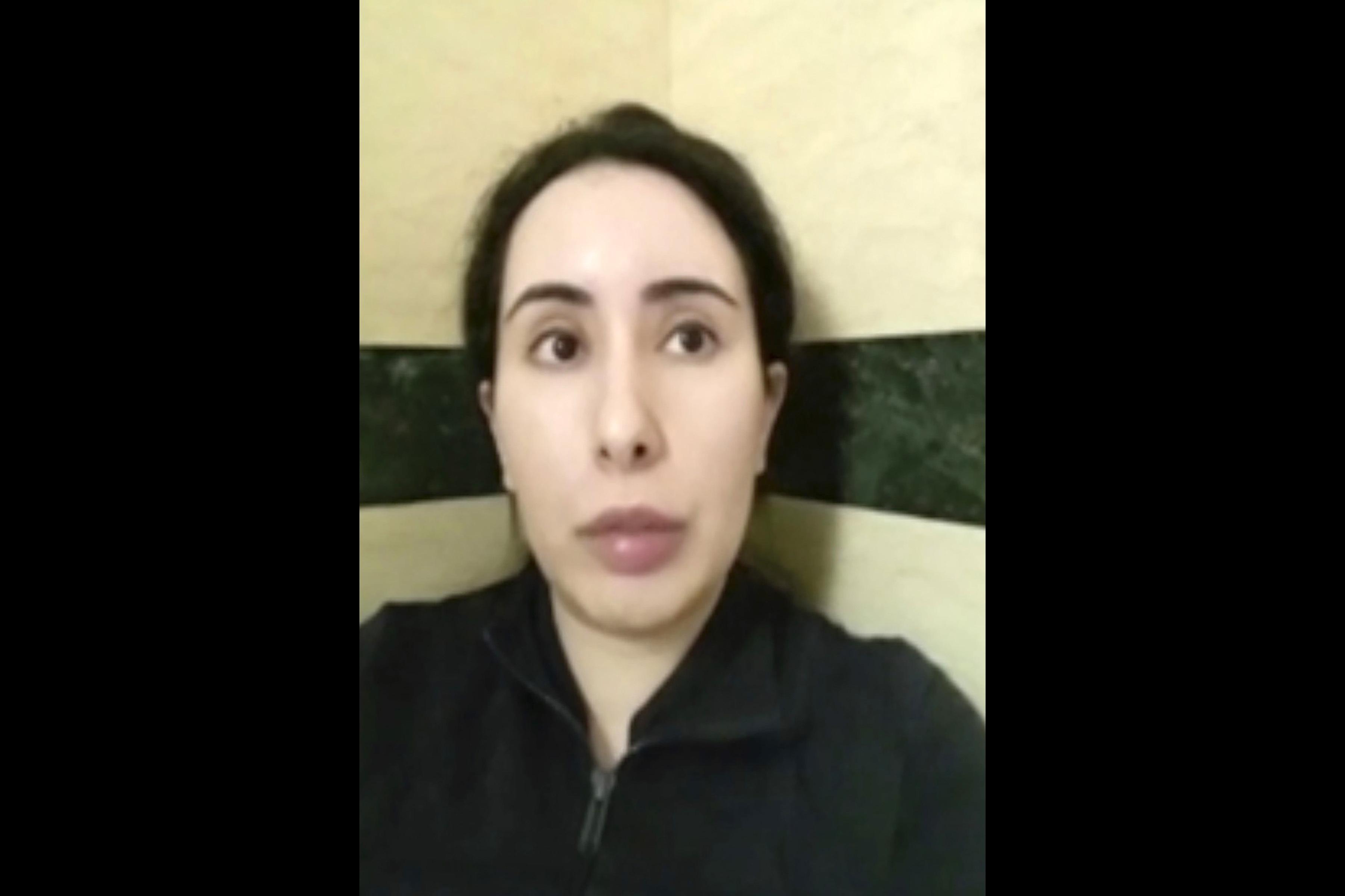 La princesa Latifa, en el vídeo que ella misma difundió.