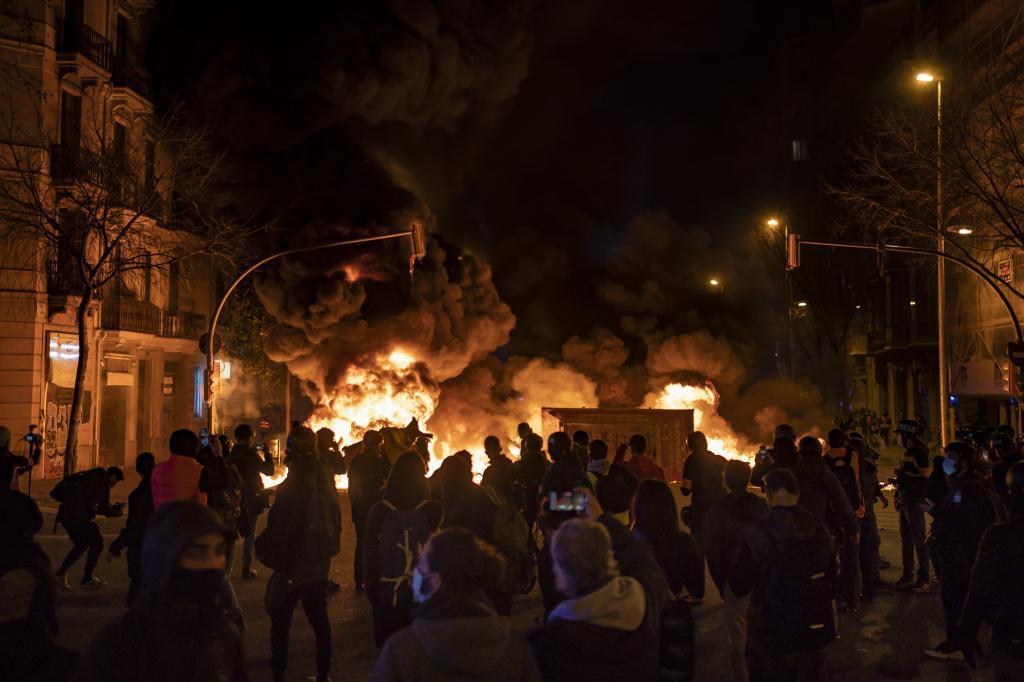 Altercanos violentos, el jueves en Barcelona.